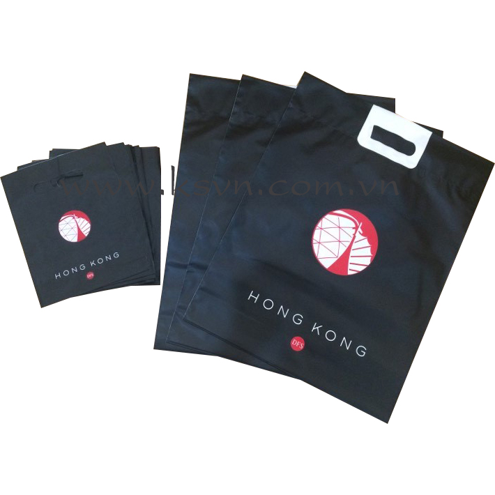 Luxury plastic bags customed shopping bags with printing