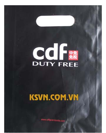 100% printing high quality die cut handle plastic bag from Viet Nam