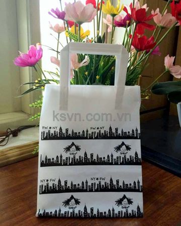 HDPE trifold handle small size plastic bag