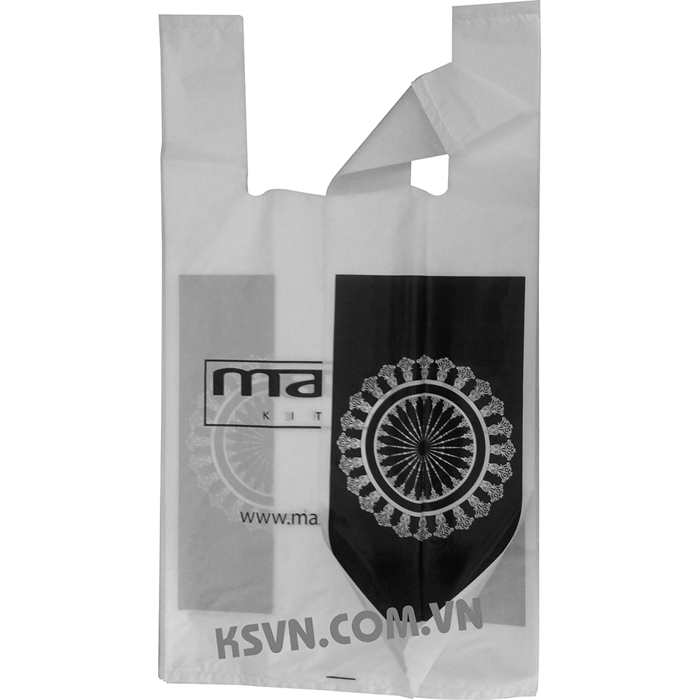 High quality t-shirt plastic bag with printing 4 side for shopping