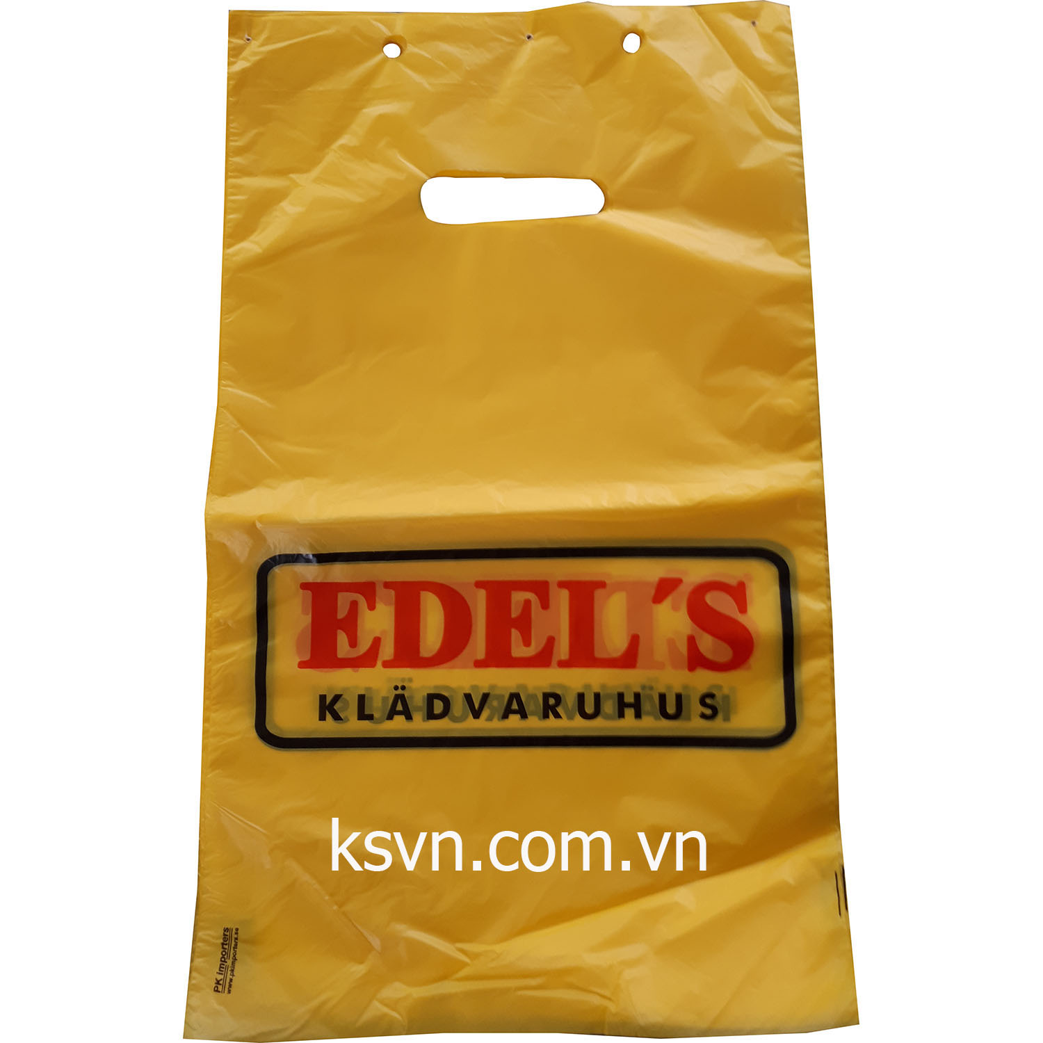 Die cut packaging plastic bag with block head and higth quality printing