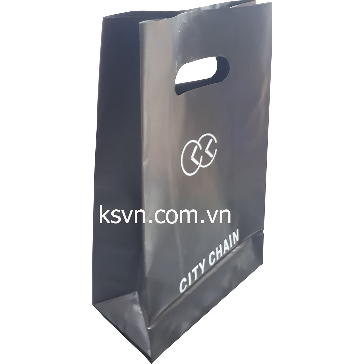 High quality printing and film quality with die cut shopping plastic bag