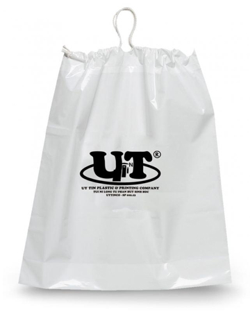 Biodegradable drawstring plastic bag