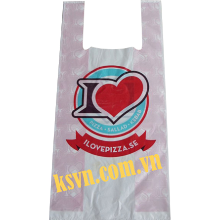 Cheap price printing t-shirt shopping plastic bag for food packaging