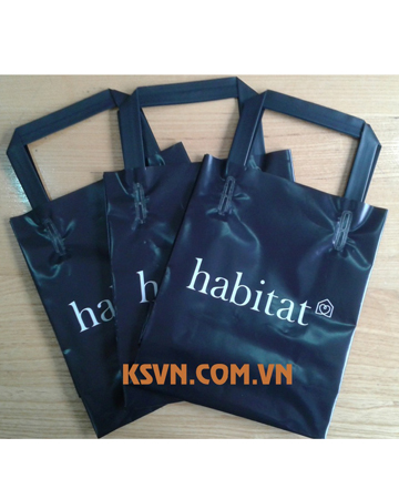 Custom plastic trifold handle bag for shopping