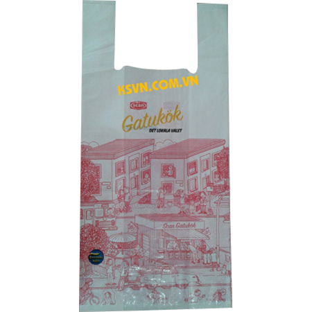 Custom printed t-shirt plastic packaging bag for shopping