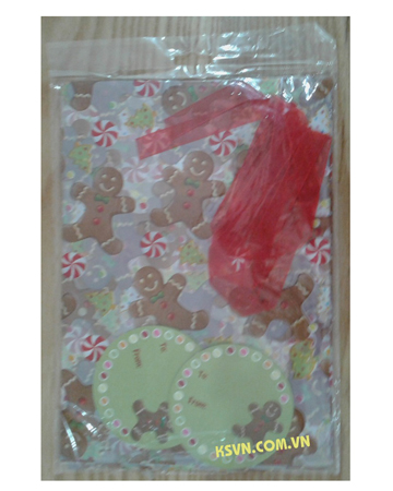 Customized design christmas candy treat bags with high quality