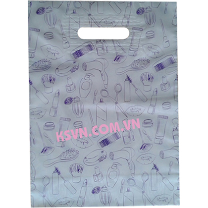 Die cut patch handle plastic bag with high quality