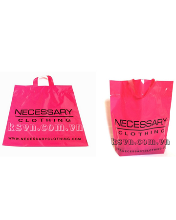 Film PE soft loop handle shopping plastic bag with high quality