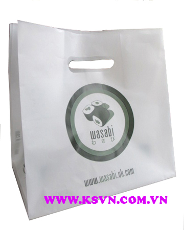 HDPE die cut block bottom bag with high quality