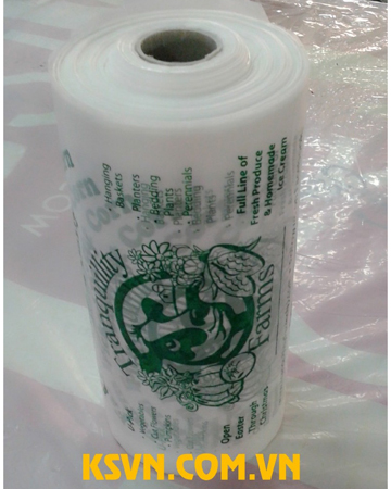 Hdpe clear plastic flat food bag on roll with hight quality pringting