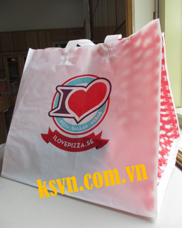 High quality customized soft loop handle bag flexi loop plastic handle bag