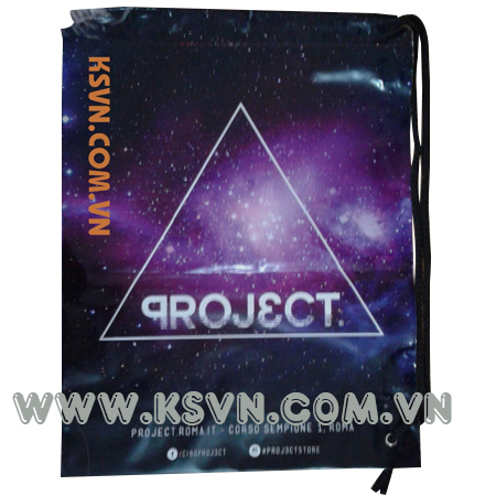 High quality drawstring bag with 100% printing and eye metal duffle bag