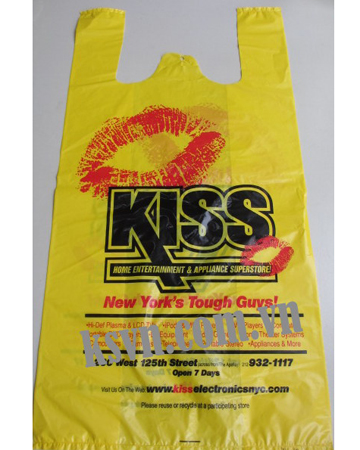 Hot Selling HDPE printed t-shirt plastic bag for shopping