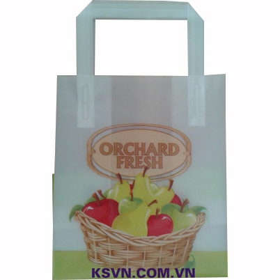 Hot selling trifold handle hdpe virgin plastic bag with block and cardboard in bottom