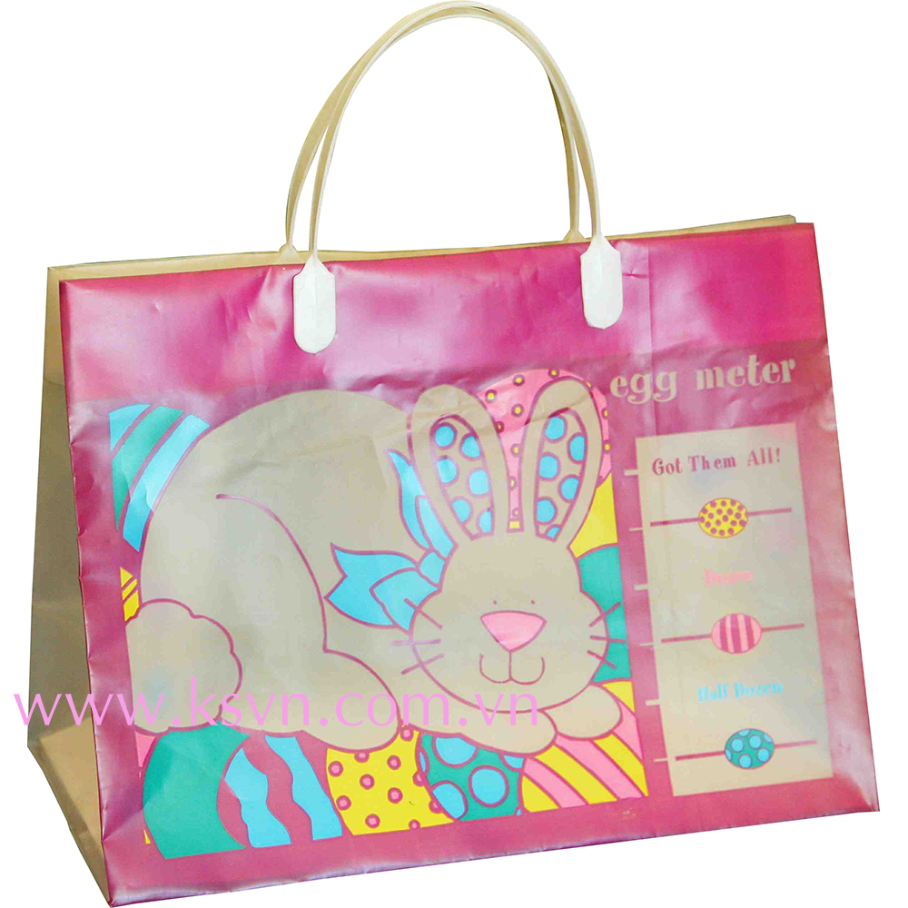 PE Cute Design Clip Handle Poly Bag for Gift