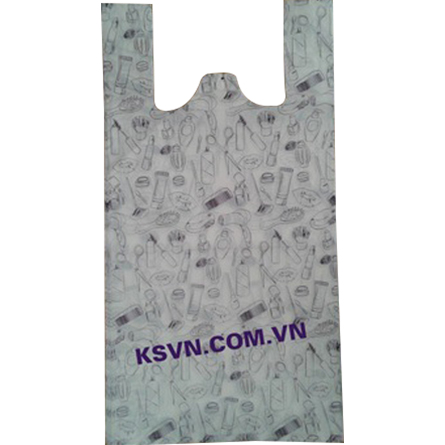 LDPE hight quality printing t-shirt packaging plastic bag with block head
