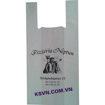 LDPE hight quality printing t-shirt packaging plastic bag with side gusset and bottom seal