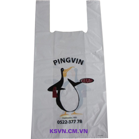 LDPE t-shirt packaging plastic bag with side gusset and bottom seal