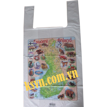 Printed Plastic LDPE T-shirt Bag with good quality for shopping