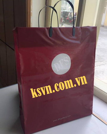 Production material shopping plastic clip loop handle bag