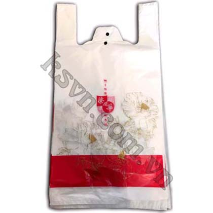 T-shirt plastic bag with block header