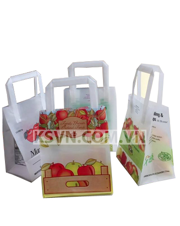 Trifold food bag with printing and high quality