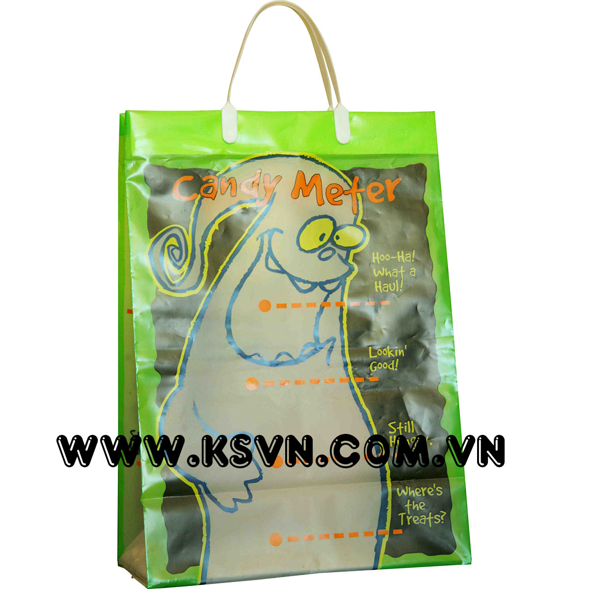 Cheap custom printed plastic rigid handle bag