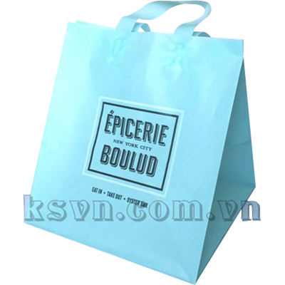 Cheap HDPE virgin custom printed shopping plastic bag with loop handle