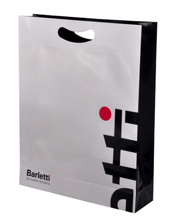 die cut plastic bag with side gusset, bottom gusset