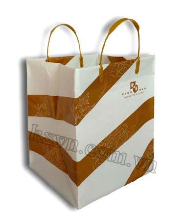 high quality rigid handle plastic bag for food packaging