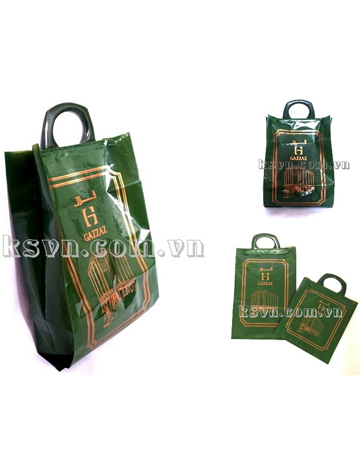 ldpe virgin luxury durable clip handle plastic shopping bag