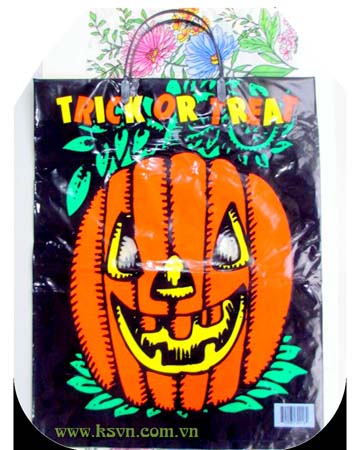 Rigid Handle Plastic Bag for Halloween Day