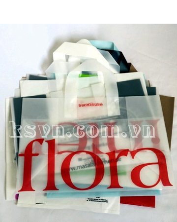 Soft loop handle shopping plastic bag