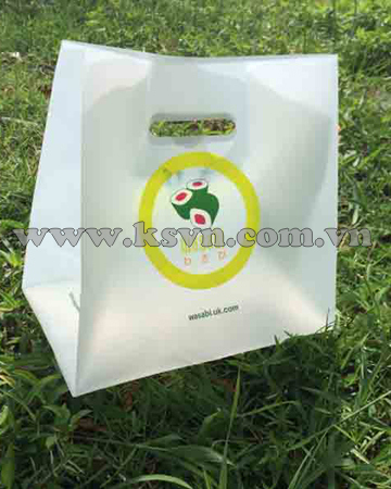 HDPE clear die cut handle plastic bag