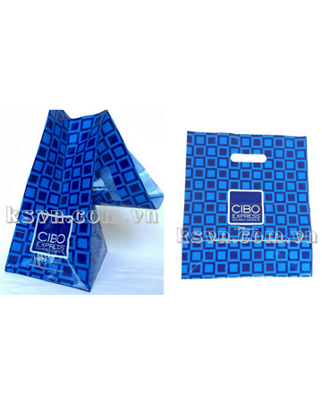 Wholesale price custom printed die cut carrier plastic bag