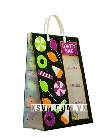 Custom printed plastic clip loop handle bag