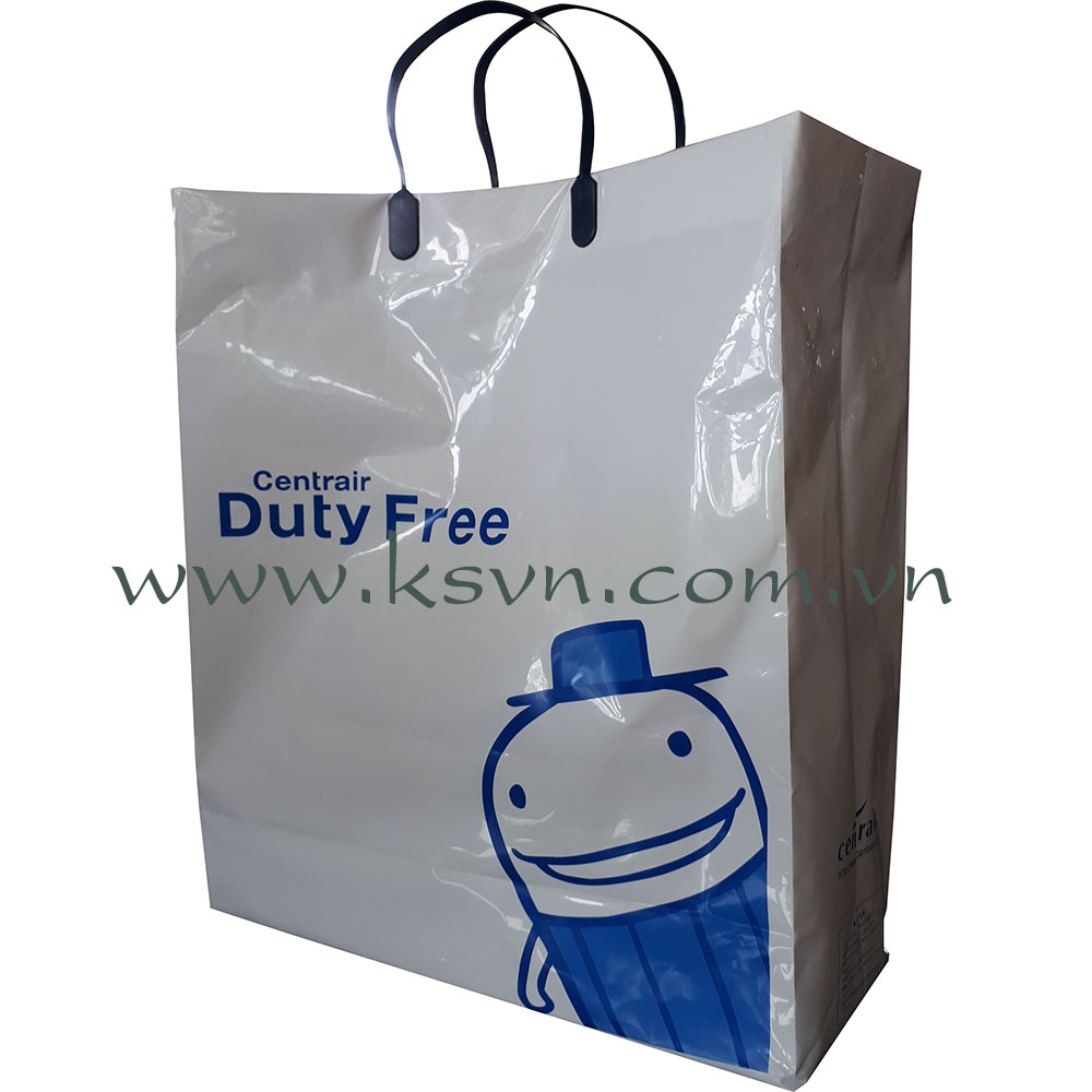 Black Rigid Handle Plastic Bag High Quality Printing